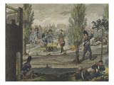 Napoleon in His Bivouac at Calgene, October 14, 1813 Giclee Print