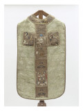 Orphreys Chasuble with Embroidered Figures of Saints. Giclee Print