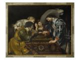 La partie de tric trac Giclée-Druck von Cornelis de Vos