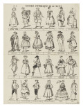 Costumes pittoresques de la France Reproduction procédé giclée