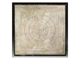 Planisphere Bianchini (Egyptian-Greek Planisphere) Reproduction procédé giclée