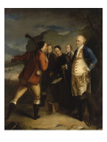 Pascal Paoli &#224; la bataille de Ponte Novu (Ponte-Novo), 1769 Reproduction proc&#233;d&#233; gicl&#233;e par Henry Benbridge