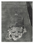 Nubia: Western Colossus of Sp&#233;os of Hwr, Abu Simbel Giclee Print by Camp Maxime Du
