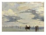 Sur l'Adriatique, la lagune près de Venise Giclee Print by Richard Parkes Bonington