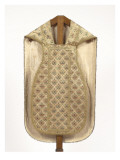 Orientalist Chasuble Embroidered in White and Gold Giclee Print