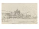 Palais de l'Industrie : façade principale : élévation Giclee Print by Max Berthelin