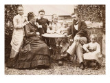 Mr. and Mrs. Gustave Eiffel and their Five Children in their Garden Levallois Premium Giclee Print by J. David