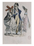 "Modes parisiennes ; ""Merveilleuses et Incroyables"" Giclee Print by Antoine Charles Horace Vernet"