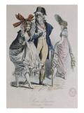 "Modes parisiennes ; ""Merveilleuses et Incroyables"" Giclee Print by Antoine Charles Horace Vernet"