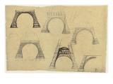 Pictures of the Decorative Arch of the Eiffel Tower Gicléetryck av Alexandre-Gustave Eiffel
