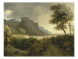 Mountainous Landscape Bathed in the Sea; the Rainbow Giclee Print by Pierre Henri de Valenciennes