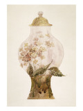 Model Covered Earthenware Vase Decorated with Phlox Giclee Print by Emile Gallé