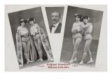 Original Graedtle's. Bühnen-Luft-Akt. 2 Damen. 1 Herr Giclee Print