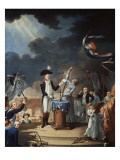 Oath of Lafayette at the Festival of the Federation Giclee Print