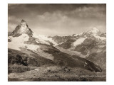 Mountain Landscape, Mount Matterhorn and Dent Blanche Giclee Print by Frères et Cie Chernoux