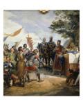 Philippe-Auguste à la bataille de Bouvines, le 27 juillet 1214 Giclee Print by Horace Vernet