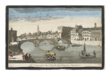 Perspective View of the Trinity Bridge in Florence Giclee Print