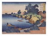 Clair de lune sur la rivière Sumida à Edo Giclée-Druck von Katsushika Hokusai