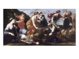 Moïse et les filles de Jethro Giclee Print by Giovanni Francesco Romanelli