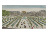 Perspective View of the Royal Palace from the Garden Giclee Print