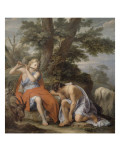Mercury Playing the Flute to Lull the Shepherd Argus Giclee Print by René Antoine Houasse