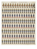 New Imaging: a Hundred Guards Held in Large and Small Giclee Print