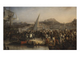 Napoleon Left the Island of Elba to Return to France Giclee Print by Joseph Beaume