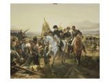 Napoleon on the Battlefield Friedland, June 14, 1807 Giclée-Druck von Horace Vernet