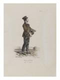 Joueur de vielle Giclée-Druck von Antoine Charles Horace Vernet