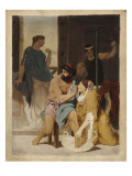 Odysseus Recognized by His Nurse Eurycleia (Sketch) Giclee Print by Gustave Clarence Rodolphe Boulanger