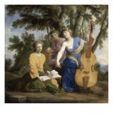 Melpomène, Erato et Polymnie Giclee Print by Eustache Le Sueur