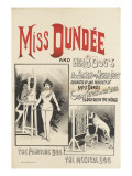 Miss Dundee and her 8 dogs, le chien peintre et le chien musicien Giclee Print