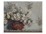 Chrysanthèmes Reproduction procédé giclée par Claude Monet