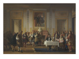 Molière  reçu par  Louis XIV Giclée-Druck von Jean Hegesippe Vetter
