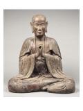 """Moine assis, formant le sceau ésotérique du """"Recueillement sur le sinciput du Buddha"""" Lámina giclée"""