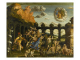 Minerva Expelling the Vices of the Garden of Virtue Giclee Print by Andrea Mantegna