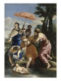 Moïse sauvé des eaux Giclee Print by Giovanni Francesco Romanelli