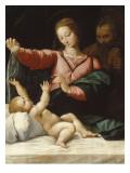 La Madonne de Lorette Giclée-tryk af Raffaello Sanzio