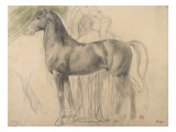 Suivantes de Sémiramis et cheval, étude pour Sémiramis Giclee Print by Edgar Degas
