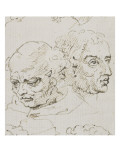 Nineteen Heads of Italian Artists of the Renaissance Giclee Print by Nicolas Poussin