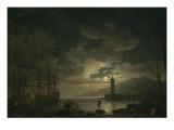 Marine, clair de lune Giclée-Druck von Claude Joseph Vernet