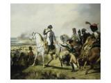 Napoléon Ier à la bataille de Wagram, 6 juillet 1809 (il est accompagné du général Bessières) Giclée-Druck von Horace Vernet