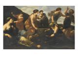 Moïse et les filles de Jéthro Giclee Print by Giovanni Francesco Romanelli