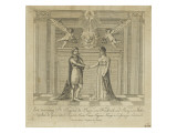 Napoleon and Marie Louise, the Covenant of Marriage Giclee Print