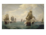 Combat naval de la Dominique, le 17 avril 1780 Reproduction proc&#233;d&#233; gicl&#233;e par Pierre Julien Gilbert