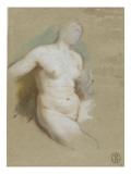 Femme nue, assise Giclée-Druck von Nicolas Vleughels