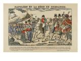 Napoléon et la mère du grenadier Giclee Print