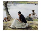 Les souvenirs Giclee Print by Emile Friant