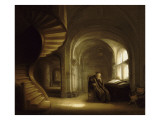 Philosophe au livre ouvert Giclee Print by Salomon Koninck