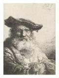 Vieillard à la barbe frisée Lámina giclée por Ferdinand Bol